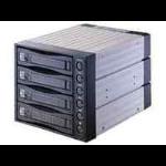 "MicroStorage CRS3141SATA-B 3.5"" Black storage drive enclosure"