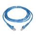 Tripp Lite Cat6 Gigabit Snagless Molded Patch Cable (RJ45 M/M) - Blue, 7-ft.