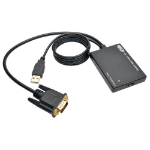 Tripp Lite P116-003-HD-U VGA to HDMI Active Adapter Cable with Audio and USB Power (M/F), 1080p, 6 in. (15.2 cm)