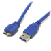 StarTech.com Cable Adaptador USB 3.0 Super Speed USB A Macho a Micro USB B Macho de 30cm - Azul