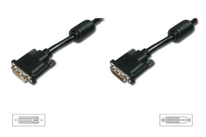 ASSMANN Electronic AK-320200-020-S DVI kabel 2 m DVI-D Zwart, Nikkel