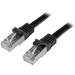 StarTech.com N6SPAT1MBK 1m Cat6 SF/UTP (S-FTP) Black networking cable