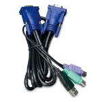 Planet KVM-KC1-3 KVM cable 3 m Black