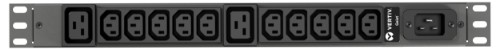 Vertiv Geist rPDU, basic, 1U, input C20 230V 16A, outputs (10)C13   (2)C19 power distribution unit (PDU) Black 12 AC outlet(s)