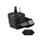 Microconnect PETRAVELAUS power plug adapter Type I (AU) Type C (Europlug) Black