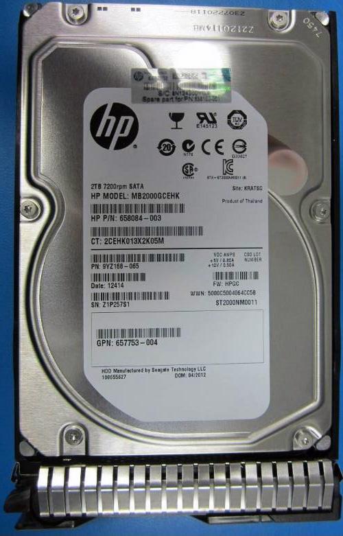 """Hewlett Packard Enterprise 2TB hot-plug SATA HDD 3.5"""" 2000 GB Serial ATA"""