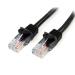 StarTech.com Cable de 3m Negro de Red Fast Ethernet Cat5e RJ45 sin Enganche - Cable Patch Snagless