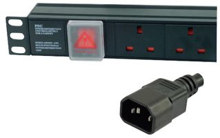 Dynamode PDU-6WS-H-UK-IEC power distribution unit (PDU) 1U Black 6 AC outlet(s)