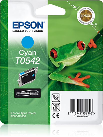 Epson inktpatroon Cyan T0542 Ultra Chrome Hi-Gloss