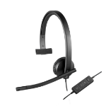 Logitech H570e Monaural Head-band Black headset