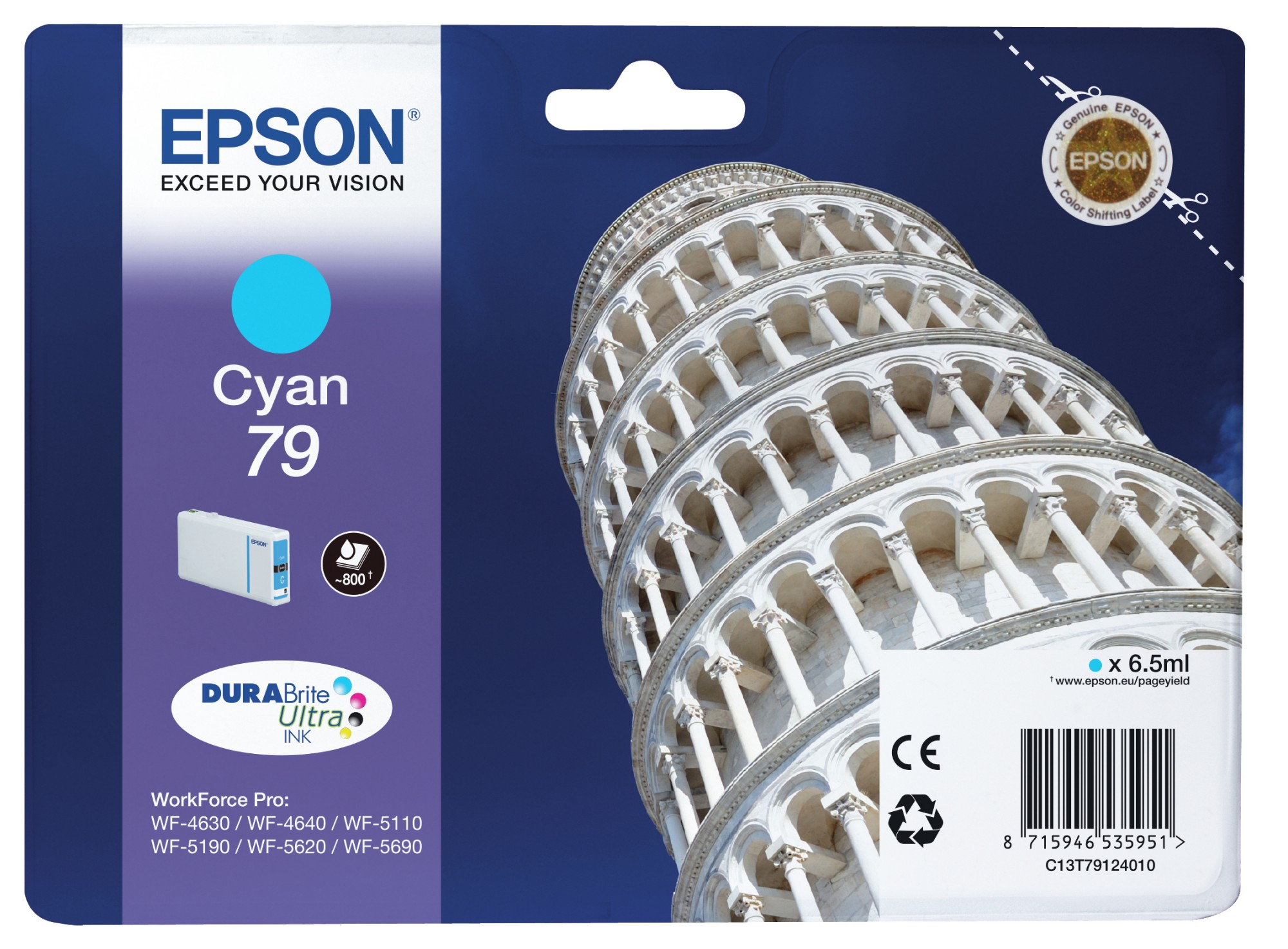 Epson Tower of Pisa Cartucho 79 cian