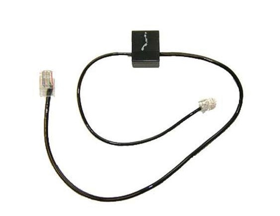 Plantronics 86007-01 Black telephony cable