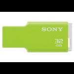 Sony 32GB, USB 2.0 32GB USB 2.0 Type-A Green USB flash drive