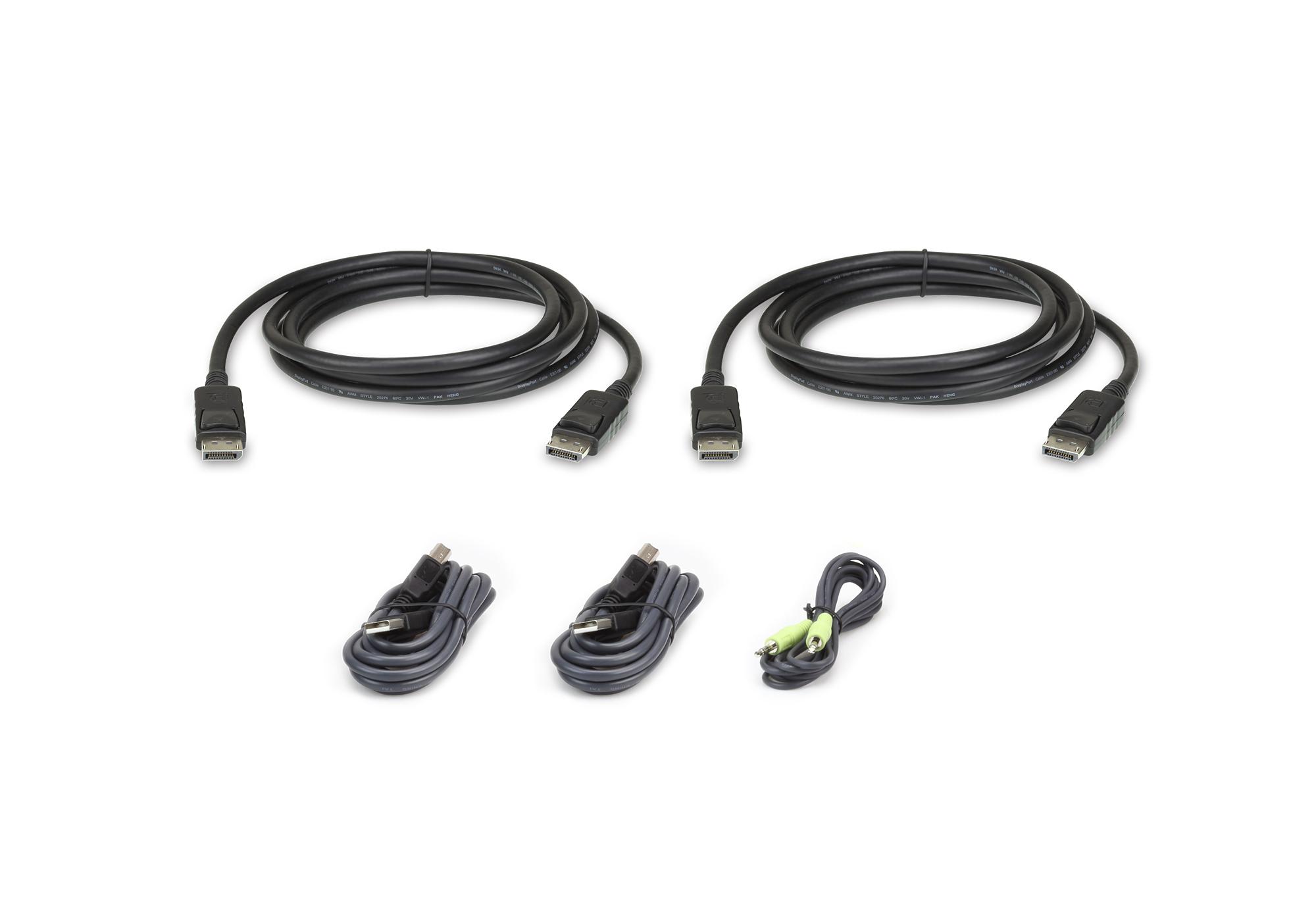 Aten 2L-7D02UDPX5 KVM cable 1.8 m Black