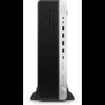HP EliteDesk 800 G4 i7-8700 SFF 8th gen Intel® Core™ i7 8 GB DDR4-SDRAM 1000 GB HDD Windows 10 Pro PC Black, Silver