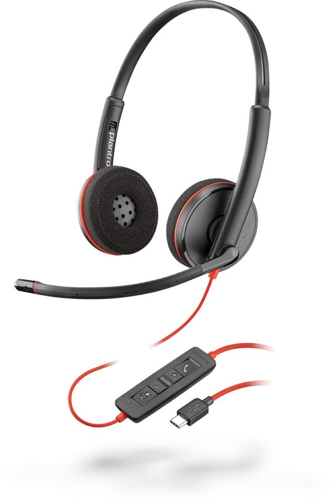 POLY Blackwire C3220 Auriculares Diadema Negro