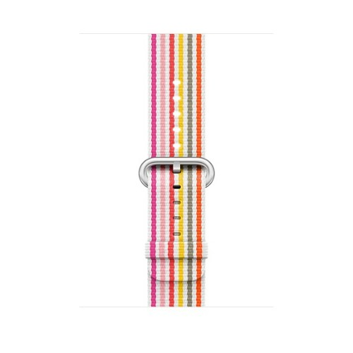 Apple 42mm Pink Stripe Woven Nylon