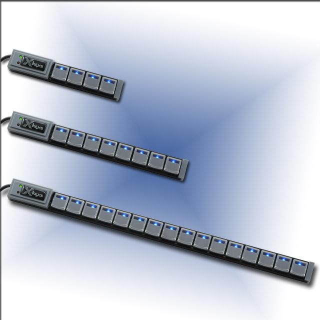 PI Engineering X-Keys Programmable Key Stick 16 key strip Pi3 USB. Dedicated keys for shortcuts- hot