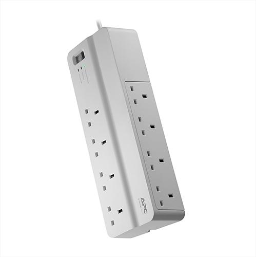 APC SurgeArrest surge protector 8 AC outlet(s) 230 V 2 m White