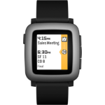 "Pebble Time 2.5"" 42.5g Black,Grey smartwatch"