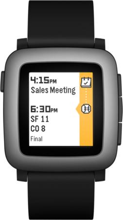 "Pebble Time 2.5"" 42.5g Black,Grey smartwatch"