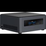 Intel NUC BLKNUC7I5DNH3E PC/workstation barebone UCFF Black BGA 1356 i5-7300U 2.6 GHz
