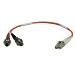 Tripp Lite Duplex Multimode 62.5/125 Fiber Adapter (LC-ST M/F) 0.3M (1-ft.)