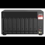 QNAP TS-873A-8G NAS Tower Ethernet LAN Black V1500B TS-873A-8G/128TB-EXOS