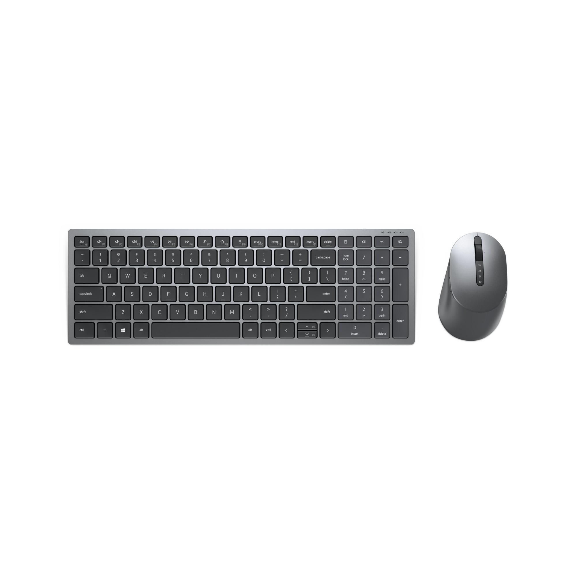 DELL KM7120W teclado RF Wireless + Bluetooth QZERTY Español Gris, Titanio