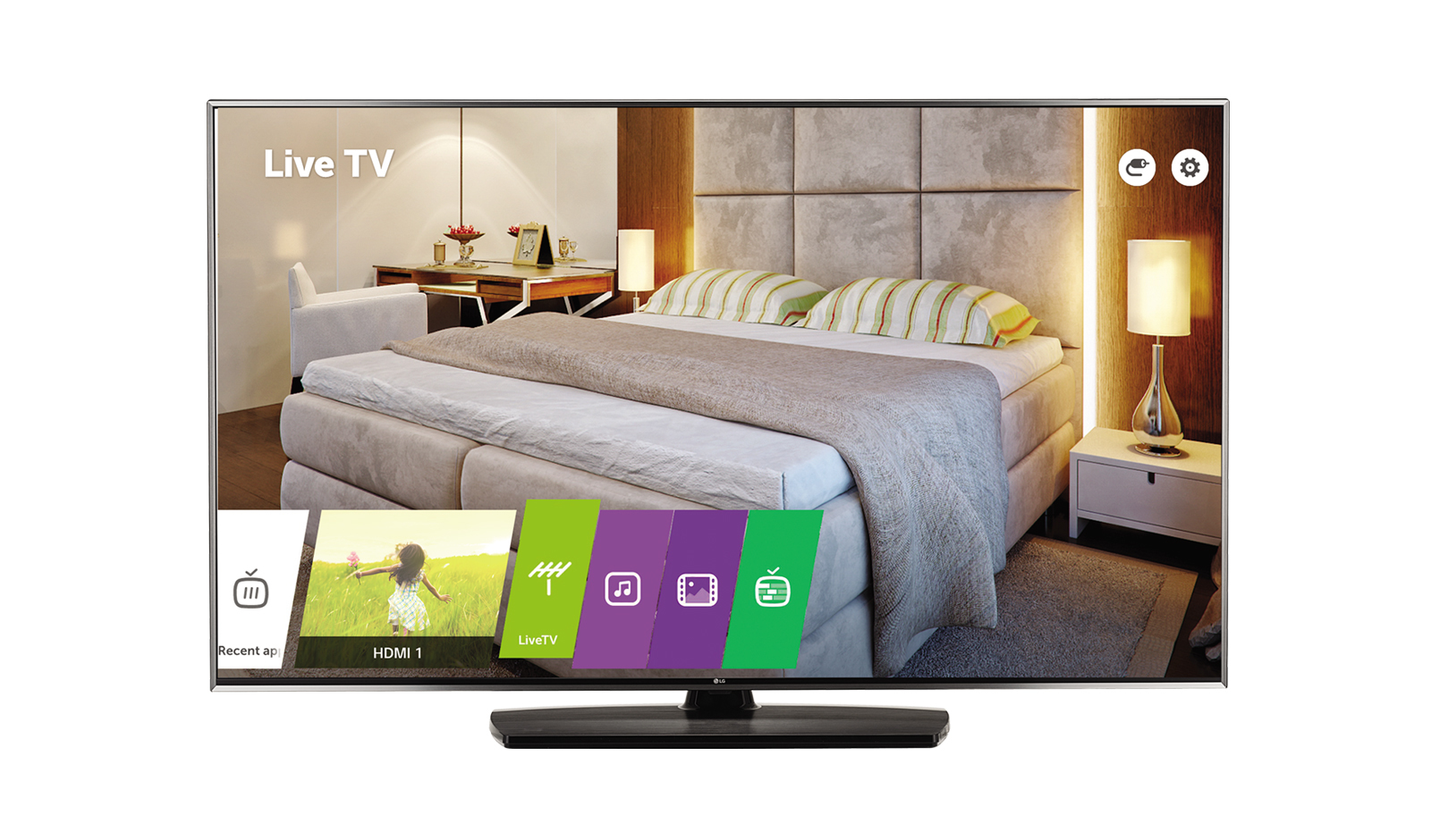 "LG 55UV761H hospitality TV 139.7 cm (55"") 4K Ultra HD Black Smart TV 20 W"