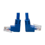 Tripp Lite Up/Down-Angle Cat6 Gigabit Molded UTP Ethernet Patch Cable (RJ45 Up-Angle M to RJ45 Down-Angle M), Blue, 0.31 m