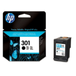 HP 301 Black Ink Cartridge Original Negro