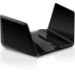 Netgear RAX200 wireless router Tri-band (2.4 GHz / 5 GHz / 5 GHz) Gigabit Ethernet Black