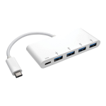 Tripp Lite U460-004-4A-C interface hub USB 3.2 Gen 1 (3.1 Gen 1) Type-C 5000 Mbit/s White