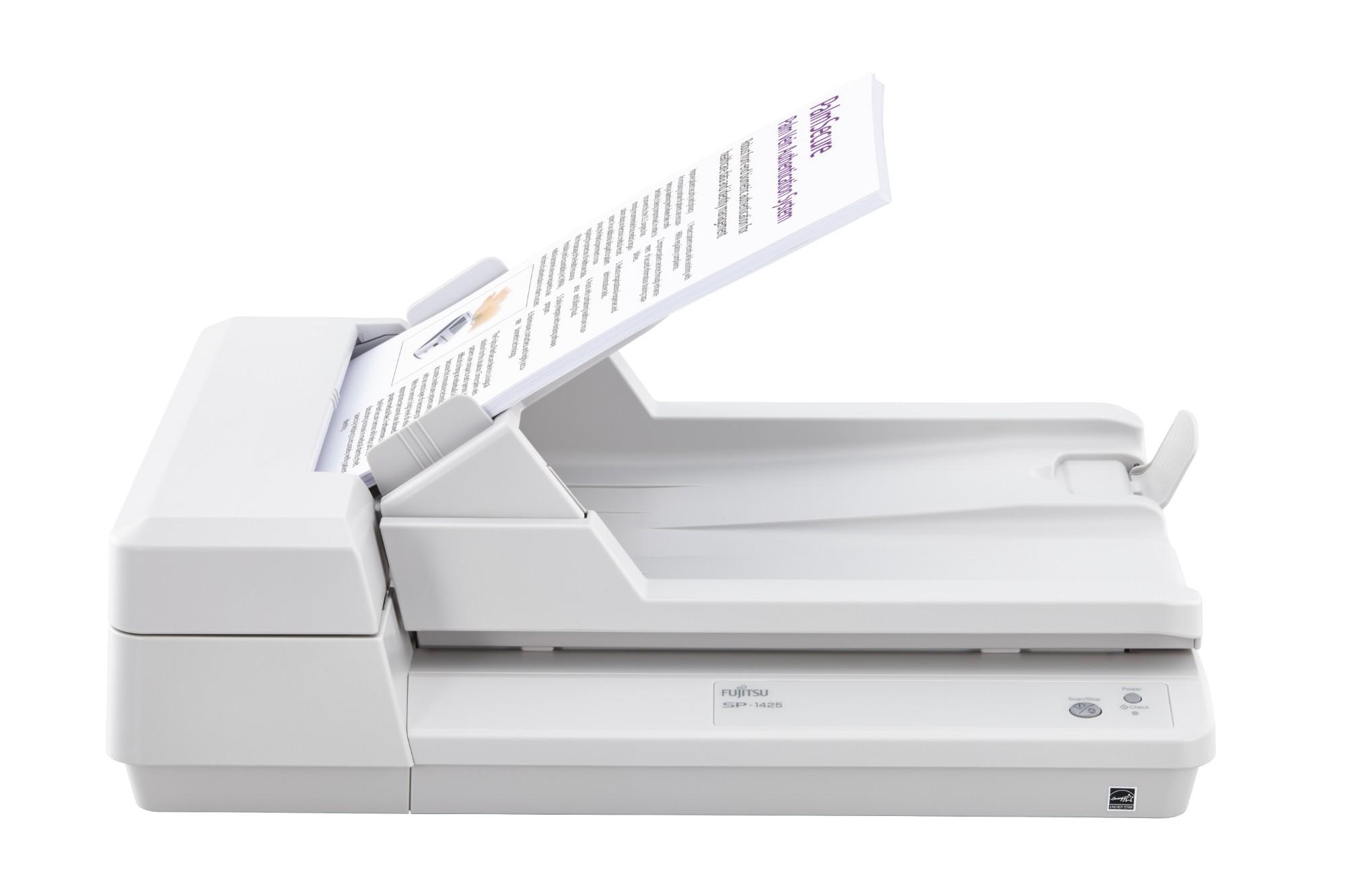 Fujitsu SP-1425 Flatbed & ADF scanner 600 x 600 DPI A4 White