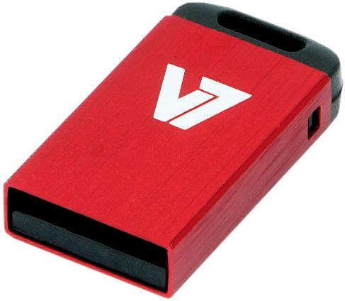 V7 Nano USB 2.0 16GB USB flash drive USB Type-A Rood