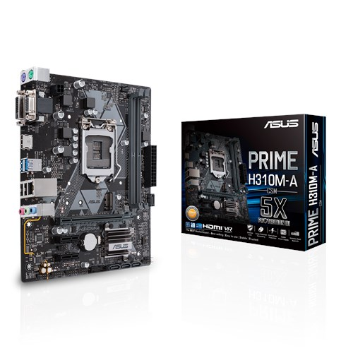 ASUS Intel LGA-1151 mATX motherboard with LED lighting, DDR4 2666MHz, M.2 support, HDMI, SATA 6Gbps and U