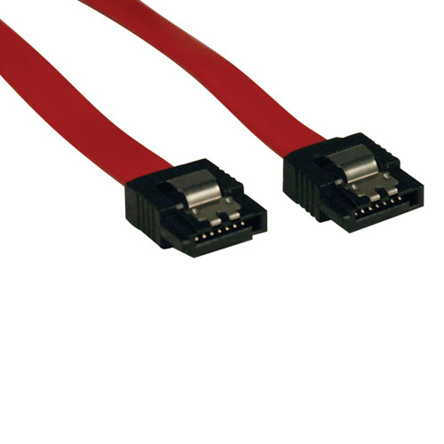 Tripp Lite Serial atA (SatA) Latching Signal Cable (7Pin/7Pin), 19-in.