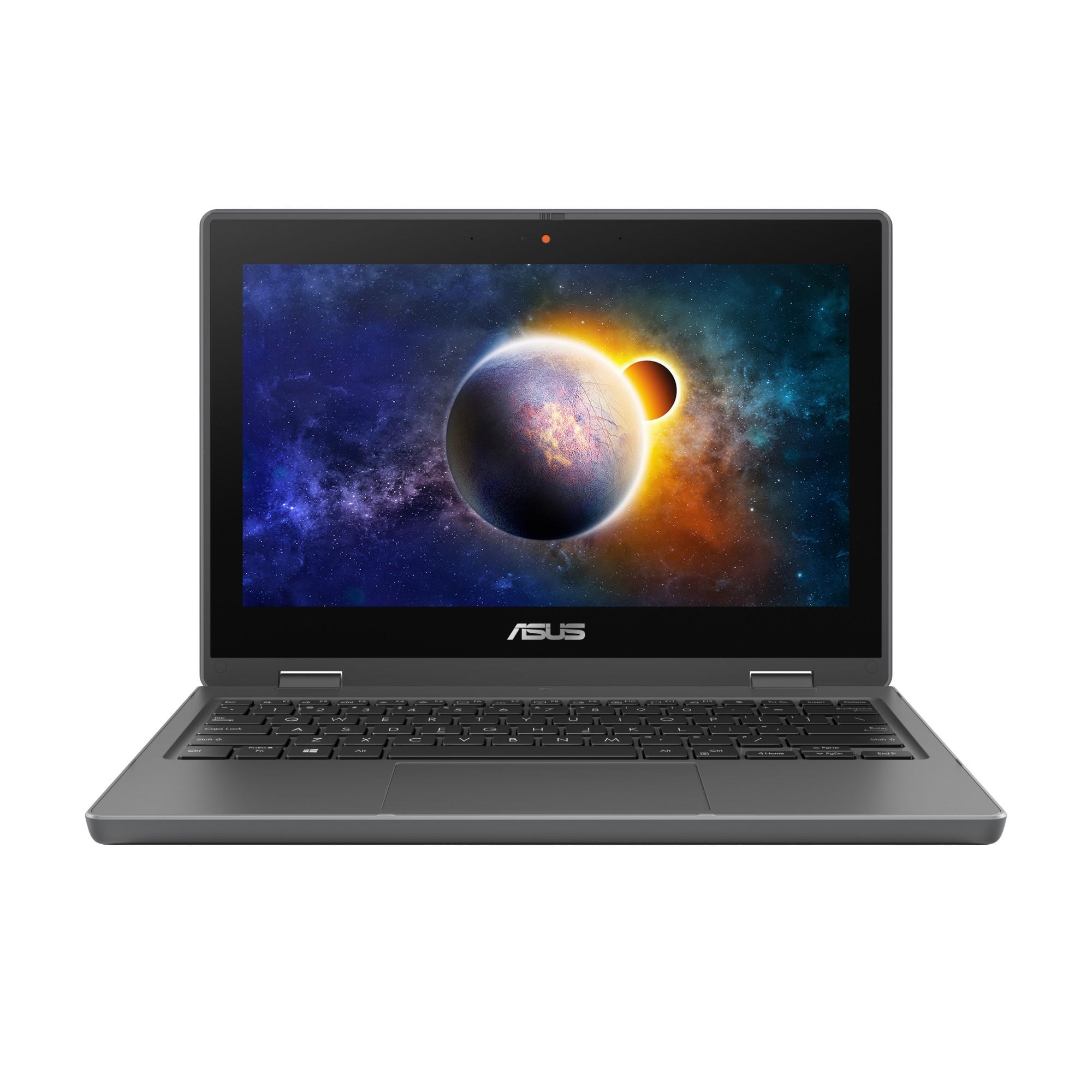 """ASUS BR1100FKA-BP0428RA-3Y DDR4-SDRAM Hybrid (2-in-1) 29.5 cm (11.6"""") 1366 x 768 pixels Touchscreen Intel® Celeron® N 4 GB 64 GB eMMC Wi-Fi 5 (802.11ac) Windows 10 Pro Grey"""