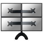 Newstar FPMA-D700DD4 Flat panel Tischhalter 76,2 cm (30 Zoll) Schwarz