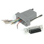 C2G RJ45 / DB15M Modular Adapter RJ45 DB15 M Grey cable interface/gender adapter