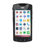 "M3 Mobile SM10LTE 5"" 1280 x 720pixels Touchscreen 280g Black handheld mobile computer"