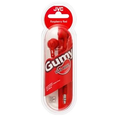 JVC HA-G160 Gumy In-Ear Headphones Red
