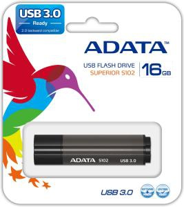 ADATA S102 Pro 16GB USB 3.0 (3.1 Gen 1) USB Type-A connector Grey USB flash drive