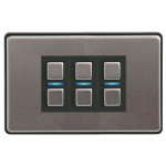 Lightwave L23 dimmers Smart dimmer Mountable Black,Stainless steel