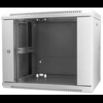 """Intellinet 19"""" Wallmount Cabinet, 9U, 500 (h) x 600 (w) x 450 (d) mm, Max 60kg, Assembled, Grey"""