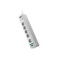 APC PM5T-FR limitador de tensión 5 salidas AC 230 V Blanco 1,83 m