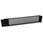 StarTech.com Panel Ciego Abisagrado de Relleno con 2U para Armario Rack - Panel de Ventilación dir