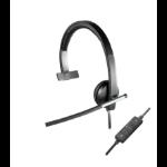 Logitech USB Headset Mono H650e Hoofdband Zwart, Grijs