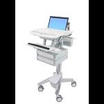 Ergotron StyleView Multimedia cart Aluminium, Grey, White Notebook